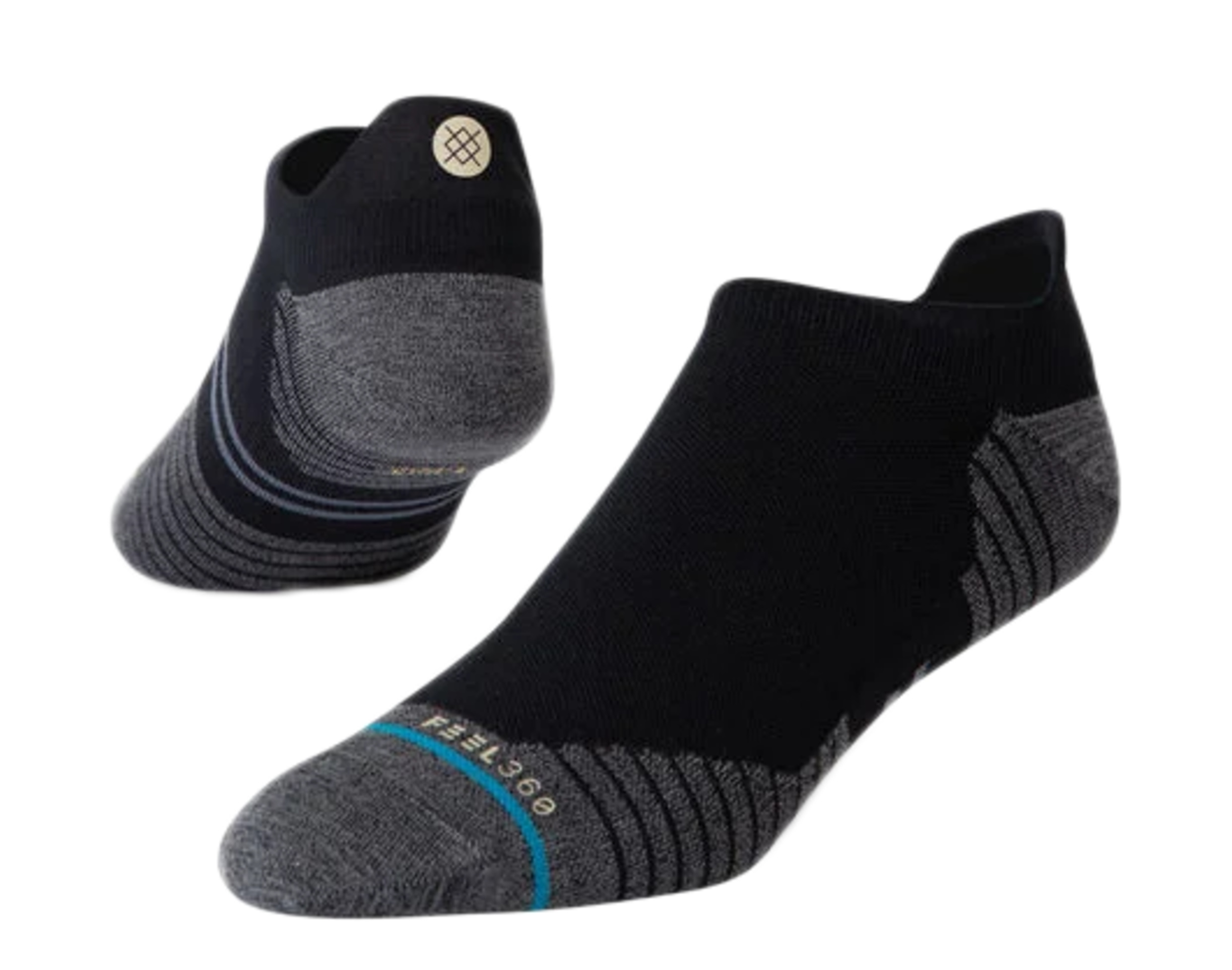 Stance Feel 360 Athletic Pressure Tab Grey//Green Ankle Socks M248C19PRT-GRY