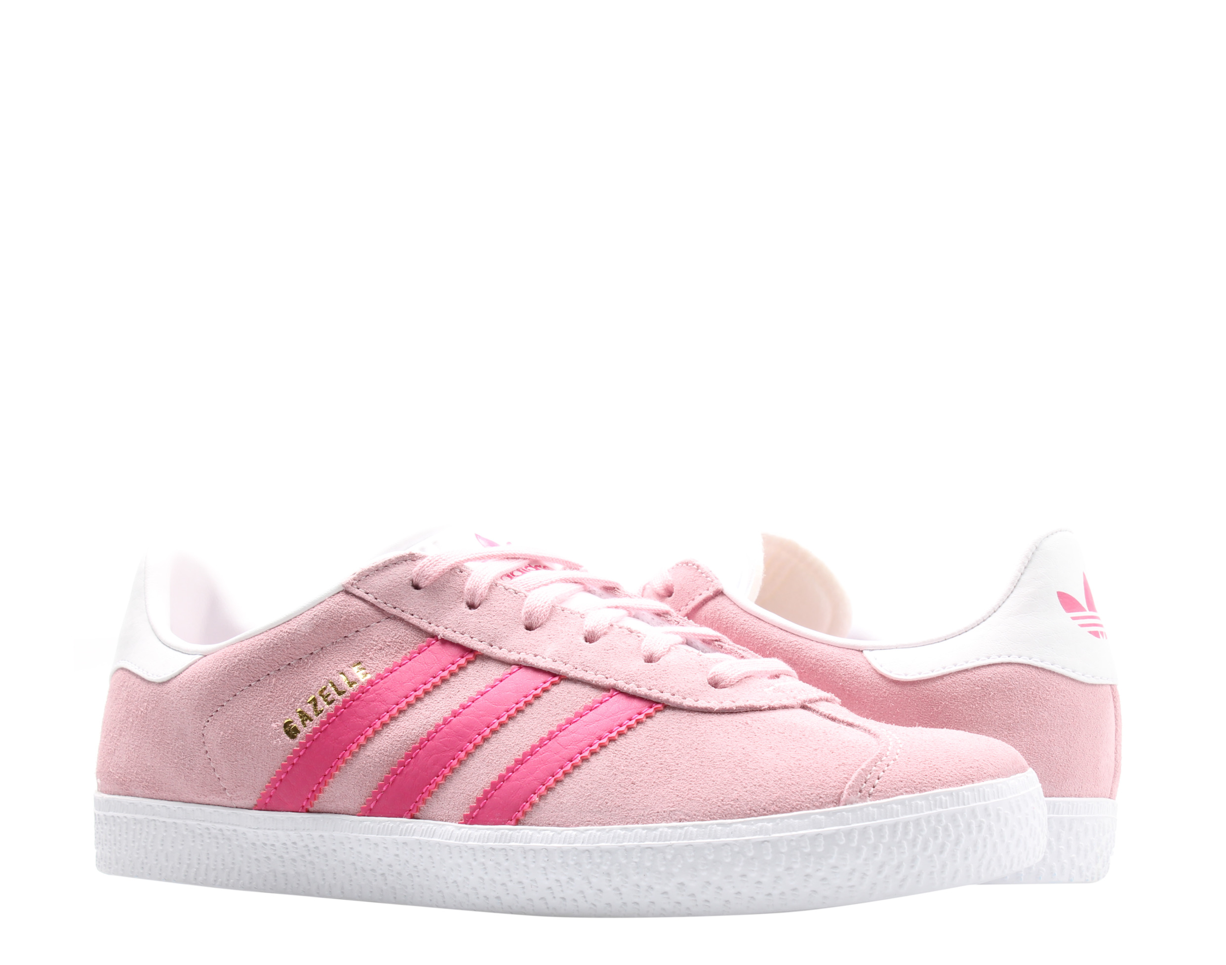 Adidas Originals Gazelle J Pink/Magenta/White Big Kids Casual ...
