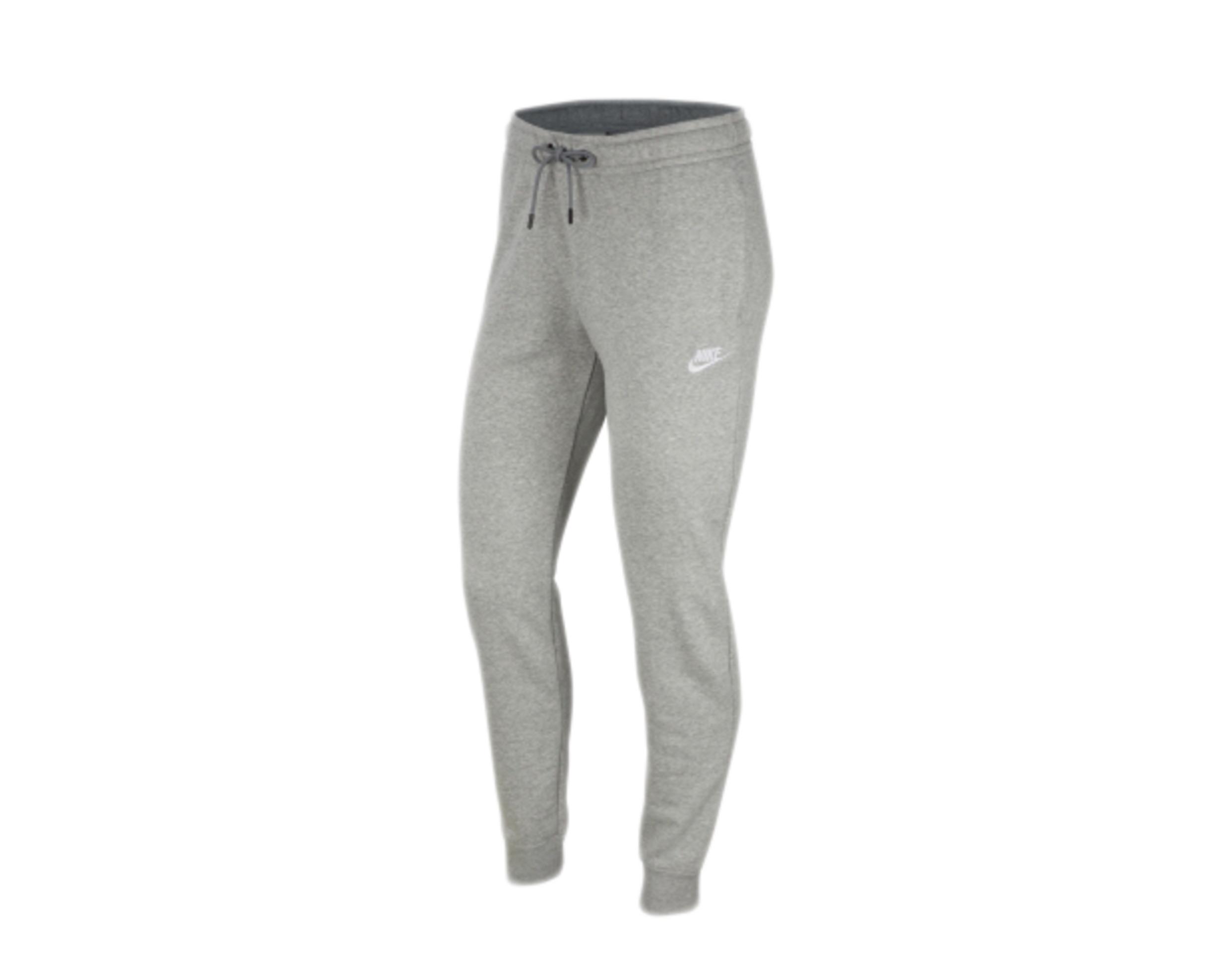 Details about Nike Sportswear Essential Fleece Grey Heather/White Women's  Pants BV4095-063