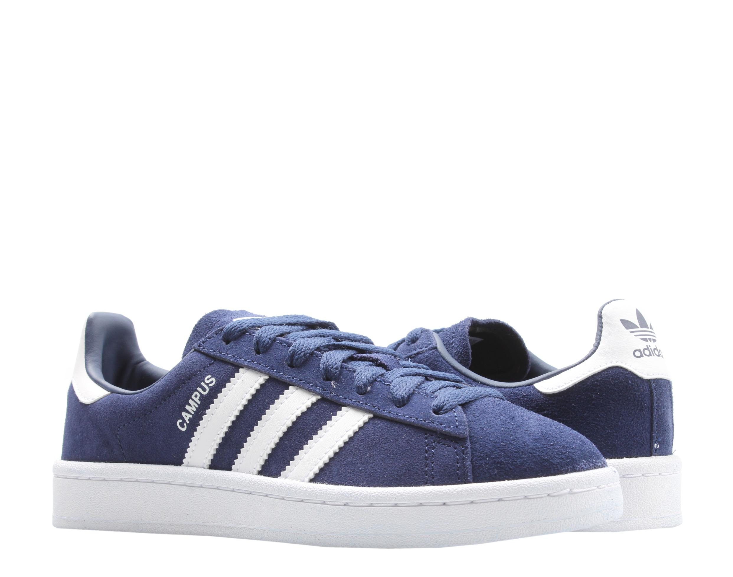 Adidas Originals Campus J Dark Blue/White Big Kids Casual Shoes ...
