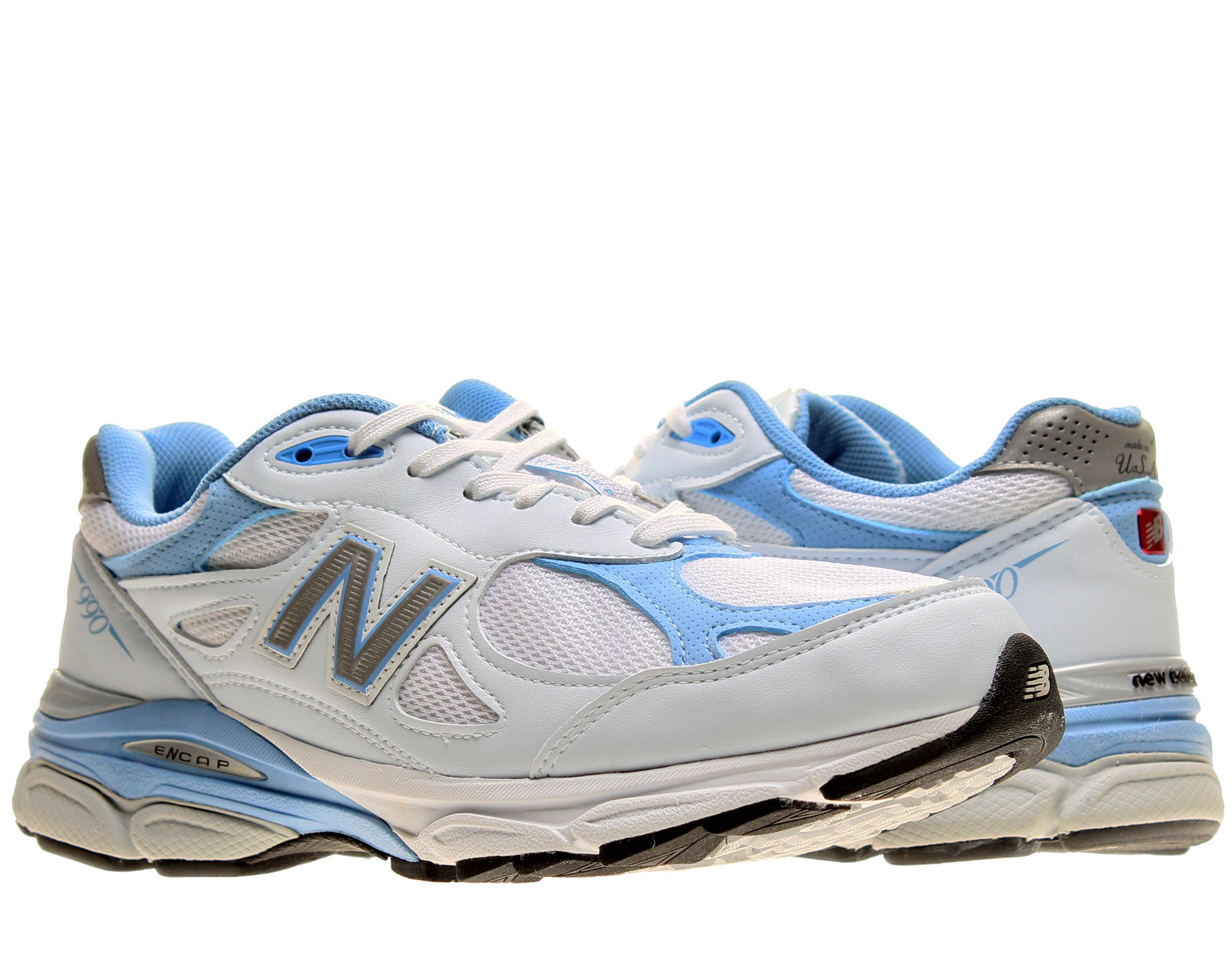 New Balance 990v3 Blanc/Bleu Femme Chaussures De Course W990WB3 ...